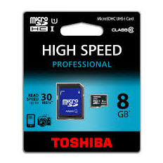 Toshiba 8Gb Micro SD CL 10 Card