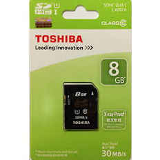 Toshiba 8Gb SD Card CL 10 Card