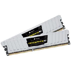 Corsair Memory Vengeance Black Low Profile DDR3 8GB PC12800 - CML8GX3M2A1600C9W (2 X 4GB) 1.35V