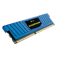 Corsair Memory Vengeance Blue Low Profile DDR3 4GB PC12800 - CML4GX3M2A1600C9B (2X2GB) LP