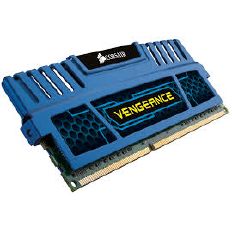 Corsair Memory Vengeance Blue DDR3 16GB PC12800 - CMZ16GX3M4A1600C9B (4X4GB)