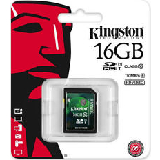 Kingston 16gb SDHC Class 10 10mb/sec