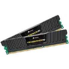 Corsair Memory Vengeance Black Low Profile DDR3 4GB PC12800 - CML4GX3M2A1600C9 (2X2GB) LP