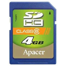 Apacer 4Gb SDHC Class 6 Card