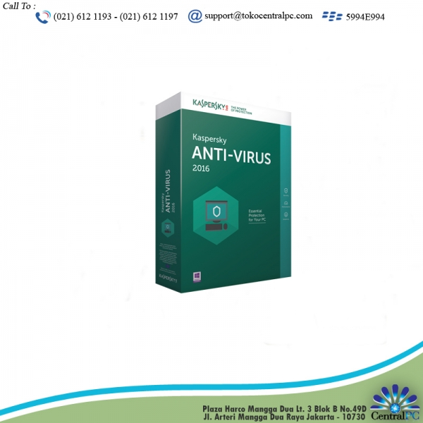 ANTIVIRUS KASPERSKY 2016 3 USER