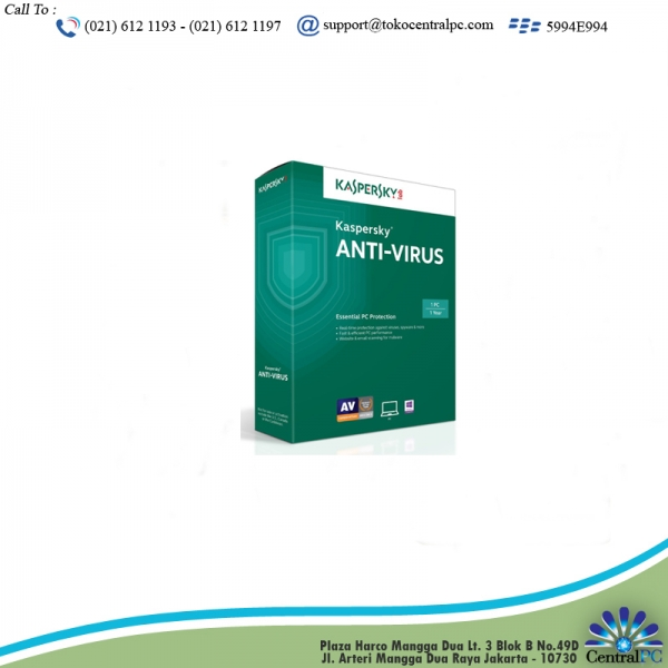 ANTIVIRUS KASPERSKY 2015 1 USER