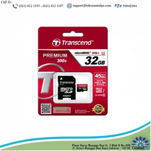 TRANSCEND 32GB MICRO SD 300S (TLC) WITH ADAPTER